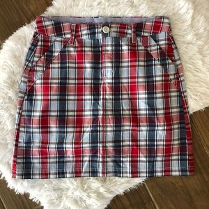 Croft & Barrow Plaid Skort Size 6